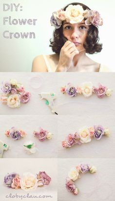 DIY: Flower Crown, perfect for spring or an anytime wedding on a beach, learn how to make one here: clobyclau.com