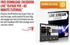 Learn how to use the Facebook Live function to get leads in your own business.  Live streaming is a great tool to have at your disposal - people get to know like and trust you which is important if you want people to become a lead or a customer.