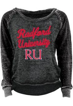 #RadfordU Women's Burnout Crewneck Sweatshirt on clearance! Grab it while you can!