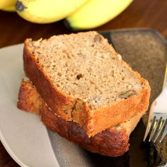 Guilt-Free Banana Bread Pound Cake - sweet without the sugar, buttery without butter!