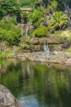 """Oheo Gulch, or """"Seven Sacred Pools"""": Road to Hana tour stops, Maui Hawaii Vacation, Maui Hawaii, Oahu, Maui Travel, Travel Usa, Travel Tips, Vacation Destinations, Vacation Trips, Vacation Ideas"""