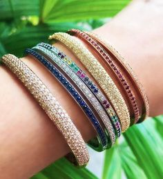 Bangle Stack Bangles, Bracelets, Women's Jewelry, Jewels, Fashion, Moda, Fashion Styles, Gemstones, Jewerly