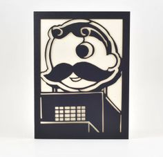 National Bohemian Natty Boh  Cut Paper by HollerAndWhistle on Etsy, $5.50