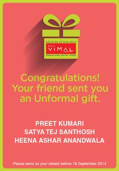 Congratulations to the winners of the Unformal Gifting Contest! In the happiness, please don't forget to DM us your contact details.