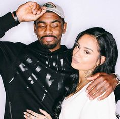 Kehlani and Kyrie Irving in a picture shared on social media in 2016...