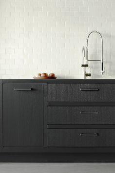 Home Interior Cuadros Interior Cuadros Interior Modern, Interior Simple, Kitchen Interior, Kitchen Decor, Kitchen Ideas, Kitchen Designs, Black Kitchens, Home Kitchens, Kitchen Black