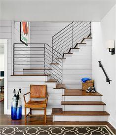 iron balustrade wood treads