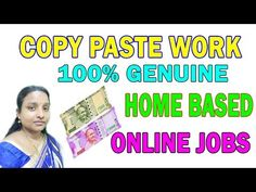 Copy and Paste Online Jobs 2017 Earn RS 20,000 Per moth Working From Home - YouTube