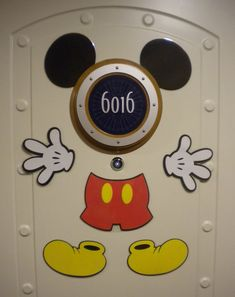 Mickey Mouse Disney Cruise Stateroom Door Magnet - Disney Cruise with baby
