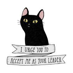 Salem Saberhagen Art Print by A Grape Design - X-Small Crazy Cat Lady, Crazy Cats, I Love Cats, Cool Cats, Salem Cat, Salem Saberhagen, Black Cat Art, Black Cats, Cat Signs