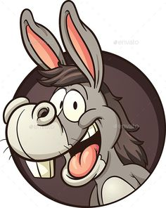 Illustration about Cartoon donkey coming out of hole. Vector clip art illustration with simple gradients. All in a single layer. Illustration of character, donkey, cute - 58228128 Cartoon Faces, Cartoon Drawings, Cartoon Art, Animal Sketches, Animal Drawings, Donkey Logo, Donkey Images, Donkey Drawing, Cute Donkey
