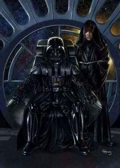 Darth Vader & Sith Luke Skywalker - Star Wars - Lawrence Reynolds In an alternative universe. Darth Vader, Anakin Vader, Star Wars Fan Art, Vader Star Wars, Star Trek, John Bennett, Cuadros Star Wars, Star Wars Personajes, Mundo Dos Games