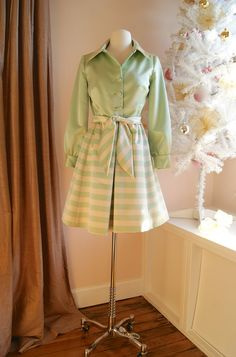 60s Party Dress // Vintage 1960s Mint Green and by xtabayvintage, $248.00