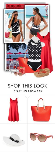 """""""Lygia & Nanny Round Neck Beach Dress"""" by tasha1973 ❤ liked on Polyvore featuring Lygia & Nanny, Phase 3, Peter Grimm, Ralph by Ralph Lauren and Caslon"""