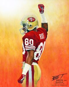 SF 49ers Jerry Rice by Ben Teeter