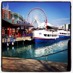 Navy Pier Enjoy the beautiful waterfront of Lake Michigan with shopping, rides, boat cruises and Navy Pier Chicago, Chicago Chicago, Wonderful Places, Amazing Places, Beautiful Places, Beautiful Pictures, Oh The Places You'll Go, Places To Travel, Bottom Of The Ocean