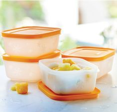 Freezer Mates® PLUS Small Shallows. EXCLUSIVE to Tupperware – specially designed in a square-round shape to help you save space in your freezer and features PLUS stain guard to help prevent staining from soups, stews and sauces. Tupperware Consultant, Freezer Containers, Freezer Storage, Shallow, Stew, Panna Cotta, Frozen, Ethnic Recipes, Desserts
