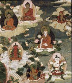 【高清大图】美国鲁宾艺术博物馆:19世纪<wbr><wbr>西藏格鲁派传承《观音菩萨唐卡》