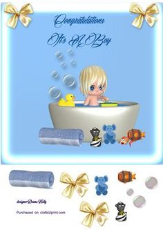 Baby bubbles on Craftsuprint - Add To Basket!
