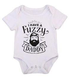I Have A Fuzzy Daddy Unisex Baby Bodysuit