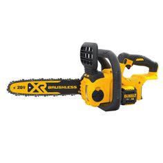 Model: FAO SKU: Add versatility to your MAX cordless system with the brushless compact cordless chainsaw. This cordless chainsaw is built to handle tough construction and outdoor jobs. Small Chainsaw, Best Chainsaw, Mini Chainsaw, Chainsaw Chains, Best Electric Chainsaw, Battery Powered Chainsaw, Chainsaw Reviews, Outdoor Jobs, Dewalt Power Tools