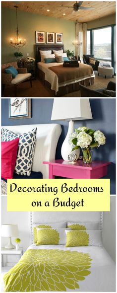 Decorating Bedrooms on a Budget • Tips & Ideas on how to decorate your bedroom, when you don't have a lot of money!