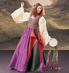 Custom Made Medieval Renaissance Flounced Skirt by ThisandThatPark, $65.00