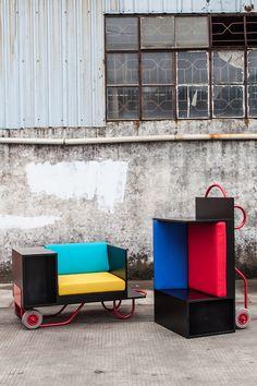 lim lu cl3 pushcart furniture cornell designboom