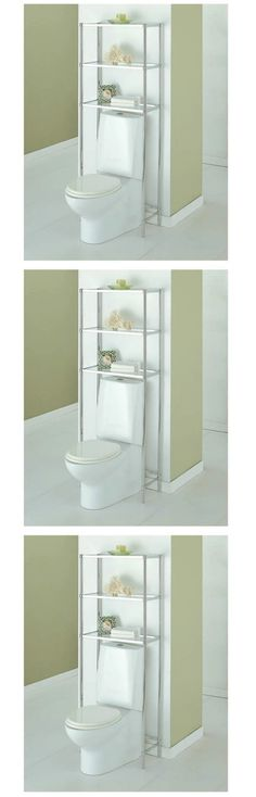 Bath Caddies and Storage 54075: Bathroom Spacesavers Over Toilet Storage Space Saver Chrome Finish 3 Glass Shelf -> BUY IT NOW ONLY: $60.4 on eBay!