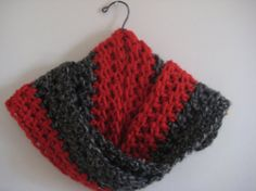 TwoToneTweed Scarf Two Colors Winter Red Black by LACollective