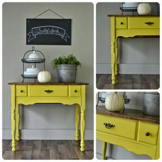 Annie Sloan English Yellow Table