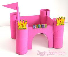 DIY Princess Castle from Recyclables ... fun craft for girls ... or make the Pirate castle version .. | Ziggity Zoom