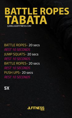 Battle Rope Bodyweight Tabata Complete 5 Rounds Tabata Workouts Crossfit Gym Fitness Tabata Battle Rope Workout Battle Ropes