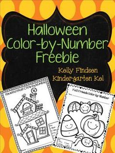 Two cute, free color by number sheets to help you get through your classroom Halloween celebration as easily as possible! :)