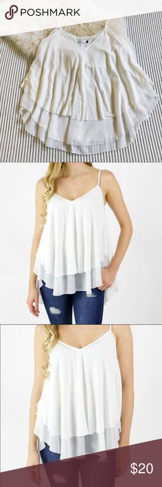 Grace & Lace Ivory Fara Combo Cami Camisole Brand new without tags. Never worn. Gorgeous romantic camisole from ethical clothing brand Grace & Lace. This is a super-popular style and perfect for the coming summer months! Size Small would fit sizes 4-10. Grace & Lace Tops Tank Tops