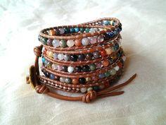 Multicolor Mix semi precious gemstone bracelet chan by Sofinuni, $49.99