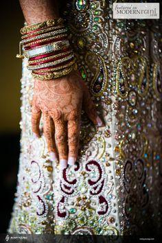 Bridal Bangles - see more inspiration @ http://www.ModernRani.com