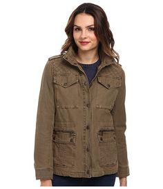 Levi's® Washed Cotton Four-Pocket Fashion Field Jacket Khaki - 6pm.com