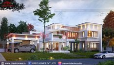 Find here the best architecture designers in Cochin .We have best team of home builders in Ernakulam, kerala.creo homes are the creative Interior and architecture Design company in Kerala. Residential Architecture, Amazing Architecture, Architecture Design, Contemporary Architecture, Classic House Design, Dream Home Design, Double Storey House Plans, Kerala House Design, Kerala Houses