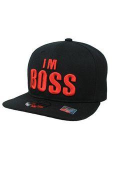 I `m BOSS Design Snap Back In Black 15cf0297c216