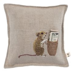 Coral and Tusk - mouse tooth fairy pillow | ahhh! the cuteness!