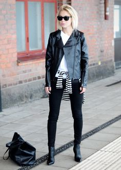 Black Motorcycle Pant - Today's Outfit - victoriatornegren