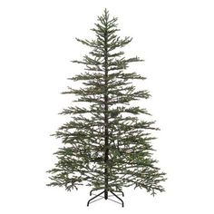 7.5' Pre-Lit Norfolk Pine Artificial Christmas Tree - Clear Lights  weighs 46 lbs. at WalMart