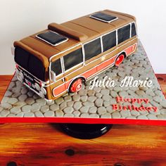 - I made this cake for my grandad's birthday. His first job he had was working for a company who made these buses. N & C Luxury Coaches.