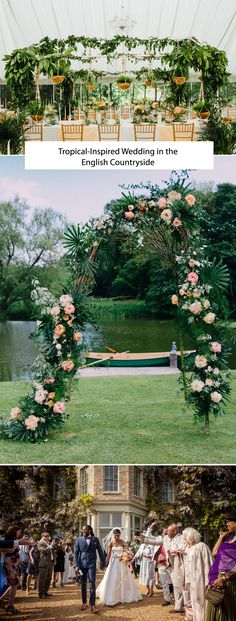 We are loving this tropical inspired wedding - and guess where it took place? The UK!