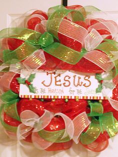 Jesus Is The Reason For The Season by PataylaFloralDesigns on Etsy
