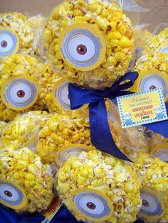 Divertida idea para aperitivo de una fiesta de cumpleaños Minions