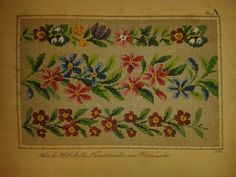 Berlin WoolWork Border Patterns Produced By H. F. Müller Berlin