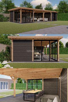 Wanneer een XL niet groot genoeg is, kiest u voor onze ruime XXL buitenverblijven! Creëer een grote overkapping of een prachtige bijgebouw! Ideaal als u veel ruimte heeft in uw tuin. Backyard Pavilion, Backyard Buildings, Patio Gazebo, Backyard Patio Designs, Backyard Landscaping, Patio Ideas, Outdoor Grill Station, Shed Homes, Outdoor Living