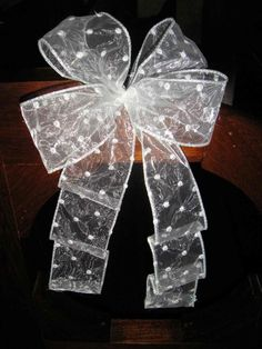 Wired Edged Double Bow for Wreaths